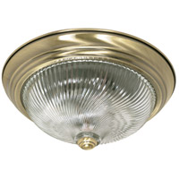 Nuvo Lighting Signature 2 Light Flushmount in Antique Brass 60/230