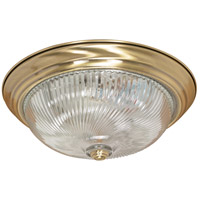 Nuvo Lighting Signature 3 Light Flushmount in Antique Brass 60/231