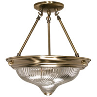 Nuvo Lighting Signature 2 Light Semi-Flush in Antique Brass 60/233