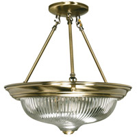 Nuvo Lighting Signature 3 Light Semi-Flush in Antique Brass 60/234
