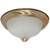 Nuvo Lighting Signature 2 Light Flushmount in Antique Brass 60/237