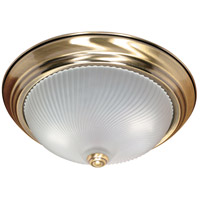 Nuvo Lighting Signature 2 Light Flushmount in Antique Brass 60/238