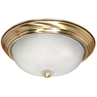 Nuvo Lighting Signature 3 Light Flushmount in Antique Brass 60/239