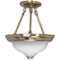 Nuvo 60/240 Signature 2 Light 11 inch Antique Brass Semi-Flush Ceiling Light