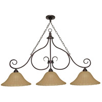 Nuvo Lighting Moulan 3 Light Chandelier in Copper Bronze 60/2402