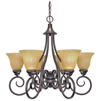 Nuvo Lighting Moulan 6 Light Chandelier in Copper Bronze 60/2403
