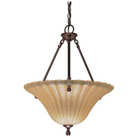 Nuvo Lighting Moulan 3 Light Pendant in Copper Bronze 60/2408