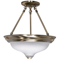 Nuvo 60/241 Signature 2 Light 13 inch Antique Brass Semi-Flush Ceiling Light photo thumbnail