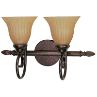 Nuvo Lighting Moulan 2 Light Vanity & Wall in Copper Bronze 60/2412