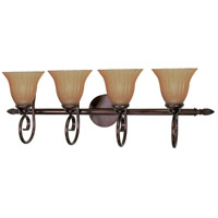 Moulan 4 Light 33 inch Copper Bronze Vanity & Wall Wall Light