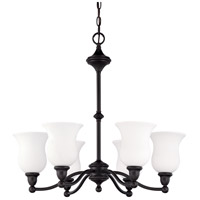 Nuvo Lighting Glenwood 6 Light Chandelier in Sudbury Bronze 60/2427