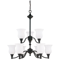 Nuvo Lighting Glenwood 9 Light Chandelier in Sudbury Bronze 60/2428