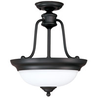 Nuvo Lighting Glenwood 3 Light Semi-Flush in Sudbury Bronze 60/2429