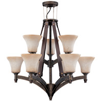 Nuvo Lighting Viceroy 9 Light Chandelier in Golden Umber 60/2442 photo thumbnail