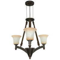 Nuvo Lighting Viceroy 3 Light Chandelier in Golden Umber 60/2445 photo thumbnail
