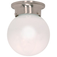 Nuvo Lighting Signature 1 Light Flushmount in Brushed Nickel 60/245