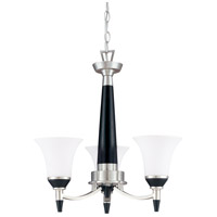 Keen 3 Light Nickel & Black Chandelier Ceiling Light