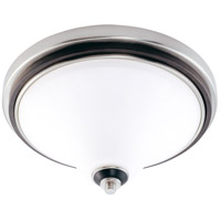 Nuvo Lighting Keen 3 Light Flushmount in Nickel & Black 60/2459