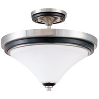 Nuvo Lighting Keen 2 Light Semi-Flush in Nickel & Black 60/2461 photo thumbnail