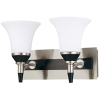 Nuvo Lighting Keen 2 Light Vanity & Wall in Nickel & black 60/2465