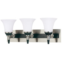 Nuvo Lighting Keen 3 Light Vanity & Wall in Nickel & black 60/2466