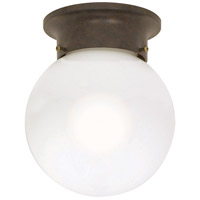Nuvo Lighting Signature 1 Light Flushmount in Old Bronze 60/247