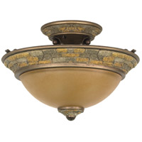 Nuvo Lighting Rockport Tuscano 2 Light Semi-Flush in Dorado Bronze 60/2471 photo thumbnail