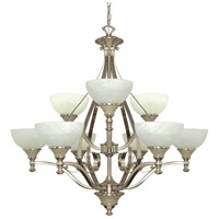 Nuvo Lighting Rockport Milano 9 Light Chandelier in Brushed Nickel 60/2486 photo thumbnail
