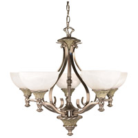 Nuvo Lighting Rockport Milano 5 Light Chandelier in Brushed Nickel 60/2488 photo thumbnail