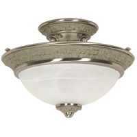 Nuvo Lighting Rockport Milano 2 Light Semi-Flush in Brushed Nickel 60/2491 photo thumbnail