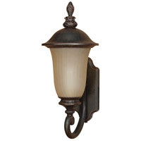 Nuvo Lighting Parisian 1 Light Outdoor Wall Lantern with Photocell in Old Penny Bronze 60/2506
