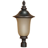 Nuvo Lighting Parisian 1 Light Outdoor Post Lantern with Photocell in Old Penny Bronze 60/2511 photo thumbnail