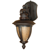 Nuvo Lighting Galeon 1 Light Outdoor Wall Lantern with Photocell in Old Penny Bronze 60/2517 photo thumbnail