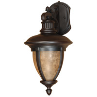 Nuvo Lighting Galeon 1 Light Outdoor Wall Lantern with Photocell in Old Penny Bronze 60/2519 photo thumbnail