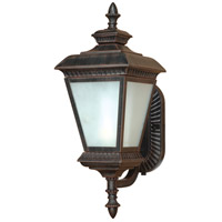 Nuvo Lighting Charter 1 Light Outdoor Wall Lantern with Photocell in Old Penny Bronze 60/2523 photo thumbnail