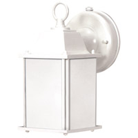 Nuvo Lighting Signature 1 Light Outdoor Wall Lantern in White 60/2527