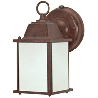 Nuvo Lighting Signature 1 Light Outdoor Wall Lantern with Photocell in Old Bronze 60/2528