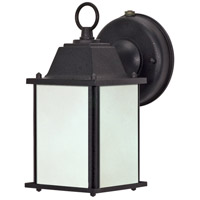 Signature 1 Light 9 inch Textured Black Outdoor Wall Lantern