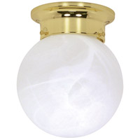 Nuvo 60/255 Signature 2 Light 6 inch Polished Brass Flushmount Ceiling Light photo thumbnail