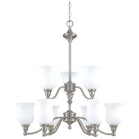 Nuvo Lighting Glenwood 9 Light Chandelier in Brushed Nickel 60/2558