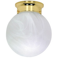 Nuvo Lighting Signature 1 Light Flushmount in Polished Brass 60/256