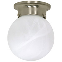 Nuvo Lighting Signature 1 Light Flushmount in Brushed Nickel 60/257