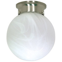 Nuvo Lighting Signature 1 Light Flushmount in Brushed Nickel 60/258