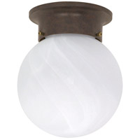 Signature 1 Light 6 inch Old Bronze Flushmount Ceiling Light