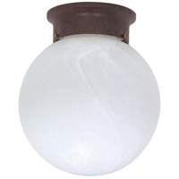 Nuvo 60/260 Signature 1 Light 8 inch Old Bronze Flushmount Ceiling Light photo thumbnail
