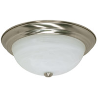 Signature 3 Light 15 inch Brushed Nickel Flushmount Ceiling Light