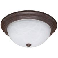 Nuvo 60/2627 Signature 3 Light 15 inch Old Bronze Flushmount Ceiling Light