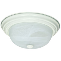 Signature 2 Light 11 inch Textured White Flushmount Ceiling Light