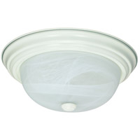 Signature 2 Light 13 inch Textured White Flushmount Ceiling Light