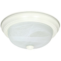 Signature 3 Light 15 inch Textured White Flushmount Ceiling Light